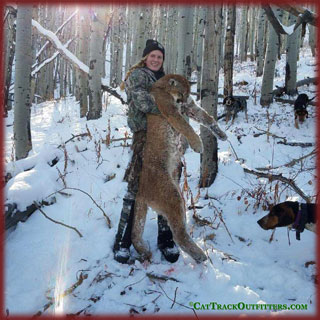 Colorado cliffs - cat & dogs - mountain lion hunting in CO